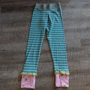 MATILDA JANE ribbed striped leggings 8 10 (D4)